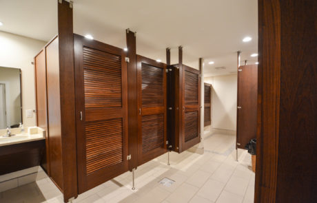 Commercial pool changing room